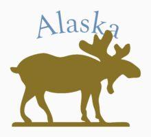 Alaska Moose One Piece - Short Sleeve