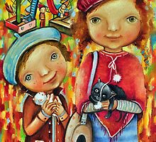 Cat Lovers by Monica Blatton