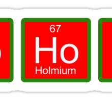 Chemical Christmas Sticker