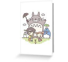 totoro plant Greeting Card