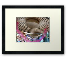Hat with pink ribbon, Hanoi, Vietnam 2012 Framed Print