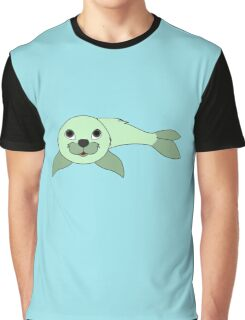Light Green Baby Seal Graphic T-Shirt