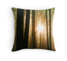 Foggy Morning Woodlands - EX Throw Pillow