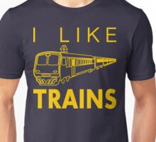 I like trains Unisex T-Shirt