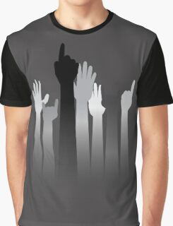 Cartoon Hands with Gestures Graphic T-Shirt