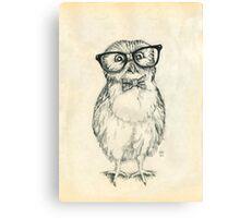 Nerdy Owlet Canvas Print