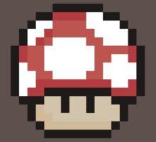 Pixel Mario Mushroom Red by J Whitehouse