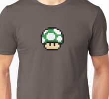 Pixel Mario Mushroom Green 1up Unisex T-Shirt