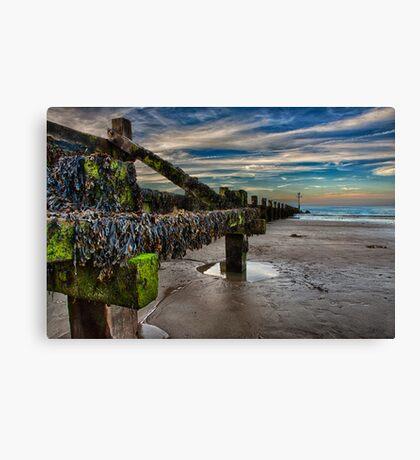 Sheringham Beach Landscape Canvas Print