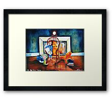 Bed time story Framed Print