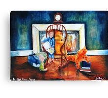 Bed time story Canvas Print