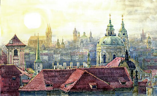 Dawn of Prague 01 by Yuriy Shevchuk