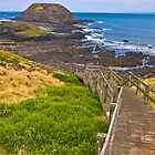Stairway to The Nobbies Phillip Island Vic Australia by PhotoJoJo