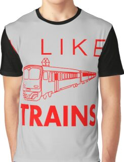 I like trains Graphic T-Shirt