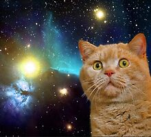Cat in space 2 by artkid
