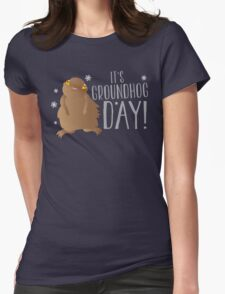 It's GROUNDHOG DAY! with cute little groundhog and snowflakes T-Shirt