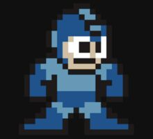 Pixel Megaman Standing One Piece - Short Sleeve