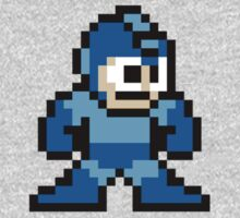 Pixel Megaman Standing One Piece - Long Sleeve