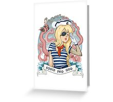 Squid Pro Quo Greeting Card