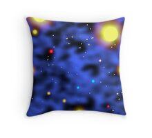The Blue Nebula Throw Pillow