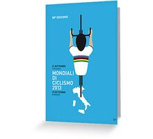 MY Mondiali di Ciclismo MINIMAL POSTER - 2013 Greeting Card