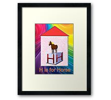 H is for Horse Play Brick Framed Print