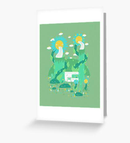 Flower power plant Greeting Card