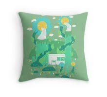 Flower power plant Throw Pillow