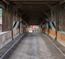 On the Wooden Covered Bridge Sticker