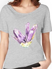 Amethyst Crystal Women's Relaxed Fit T-Shirt