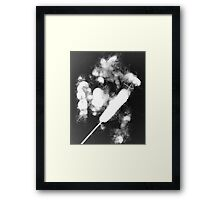 Bulrush photo gram Framed Print