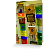 Glass Sticks Greeting Card