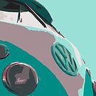 Aqua VW Split iPhone Case by Joe Stallard