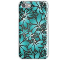 Wallpaper - leaves and swirls iPhone Case/Skin