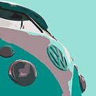 Aqua VW Split iPad Case by Joe Stallard