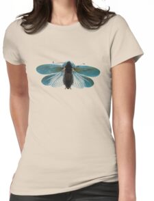 Blue Moth Womens Fitted T-Shirt