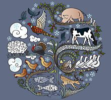 Born to Roam at Christmas by Compassionate Tees