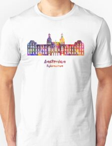Amsterdam Rijksmuseum Landmark in watercolor Unisex T-Shirt