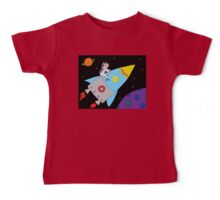Rocket to Outer Space Baby Tee