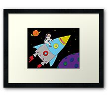Rocket to Outer Space Framed Print