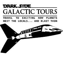 Dark Side Galactic Tours Photographic Print