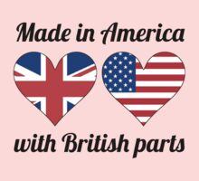 Made In America With British Parts Kids Tee