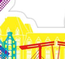 Amsterdam skyline pop Sticker
