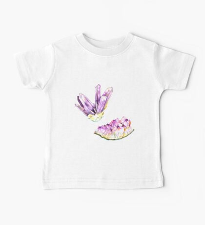 Amethyst Crystal and Geode Baby Tee