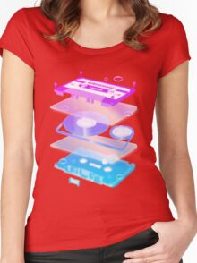 Cassette Explosion - Tape Music Women's Fitted Scoop T-Shirt
