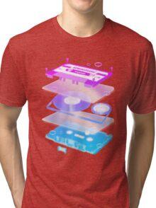 Cassette Explosion - Tape Music Tri-blend T-Shirt