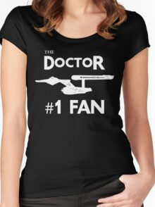 The Doctor #1 Fan Women's Fitted Scoop T-Shirt