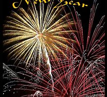 Happy New Year fireworks by Dennis Melling