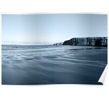 ballybunion beach on a cold grey day Poster