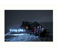 Svalbard light show at Rusanova Art Print
